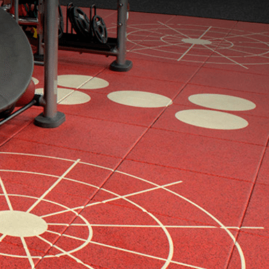 360 Series Rubber Tiles Create Personalized Gym
