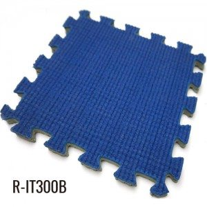 10mm Blue Easy installation Indoor Interlocking Rubber Mat