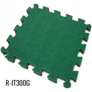 Green 13mm Playground Interlocking Rubber Floor Tiles