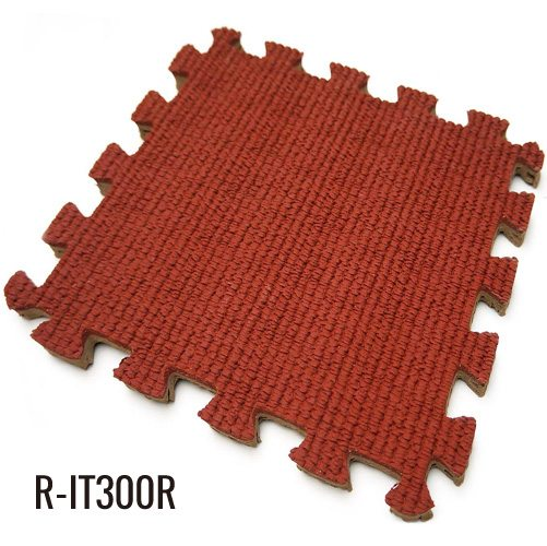 0.394″ Red DIY High Quality Interlocking Rubber Mats