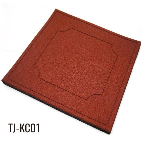 Red 100cm*100cm Playground Rubber Floor Tiles