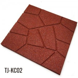 Red 19mm Recycled Full EPDM Granules Rubber Tiles