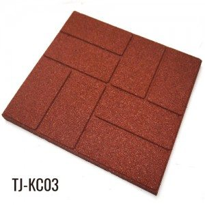 40cm*40cm Outdoor Recycled Rubber Tiles Patio Pavers