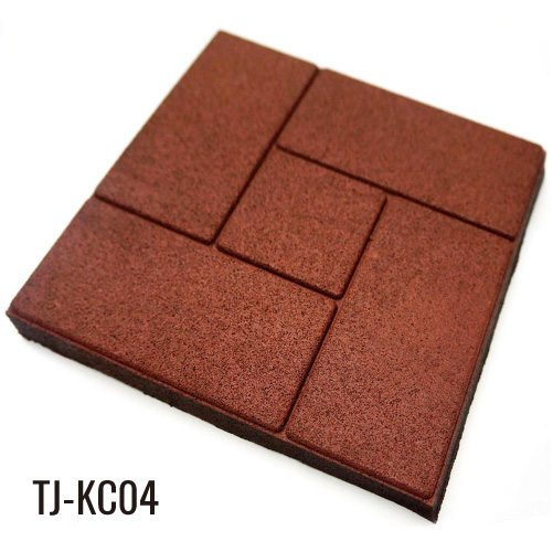 2cm Thick Outdoor Square Rubber Brick Pavers for Patio