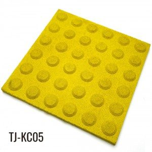 50cm * 50cm Yellow Okugcwele EPDM granules Outdoor Rubber Tiles