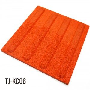 25mm Red 100% EPDM Fleck Safety Rubber Outdoor Tiles