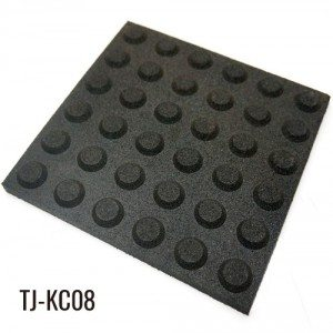 30mm Outdoor Path Black Rubber Floor Tiles