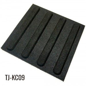 50cm*50cm Soft Walkway Black Safety Rubber Tiles
