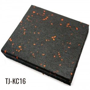 3/4″ Sport Play Shock-absorbing Black Rubber Floor Tiles