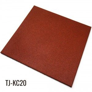 Red Heavy Duty Rubber Floor Tiles for Gym Equipment