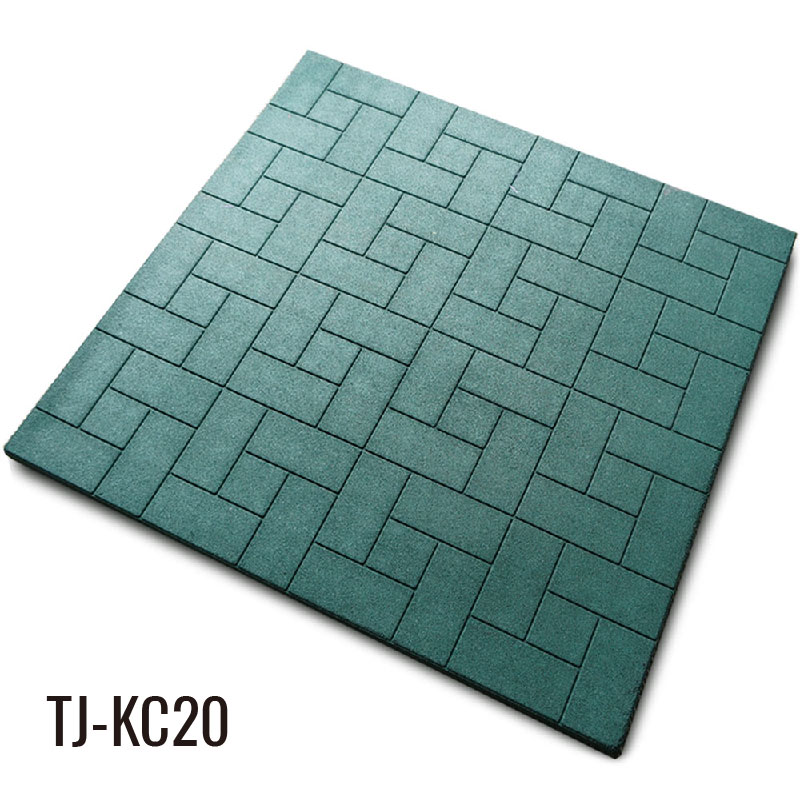 1m*1m Outdoor Durable Green 30mm Rubber Stall Mats