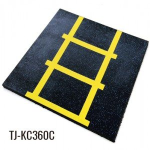50cmx50cm 360 Multi-purpose 20mm High Quality Rubber Playground Tiles