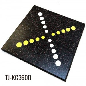 Coloured Playground Sports Rubber Tile Outdoor Flooring