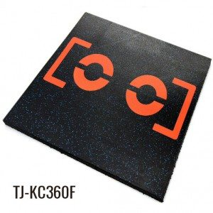 30mm Workout Rubber Playground Tiles Flooring
