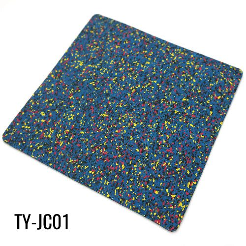 Blue 5mm Gym EPDM Granules Recycled Rubber Roll Flooring