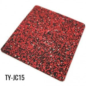 2mm Red 90% EPDM Granules Sports Adhesive Rubber Sheet