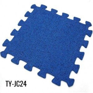 Blue 8mm Recycled Interlocking Rubber Gym Flooring