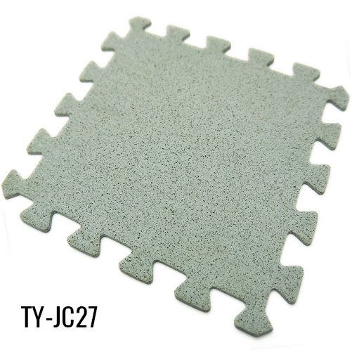 Gray Interlocking Rubber Flooring for Workout Room