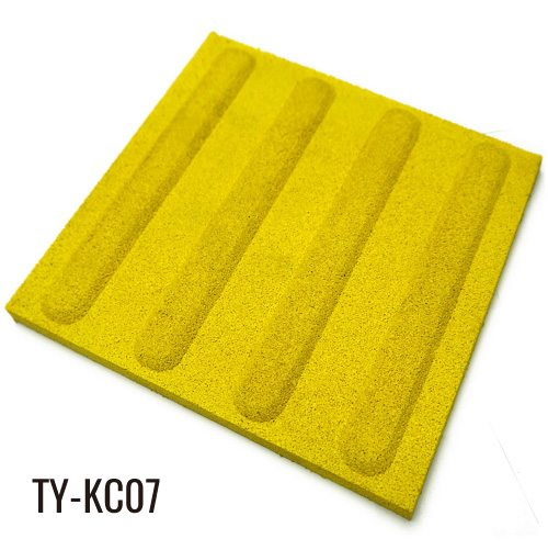 Yellow 15mm EPDM Fleck Path Rubber Floor Tiles