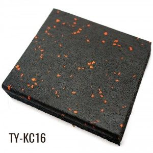 Black EPDM Granules Recycled Rubber Tiles