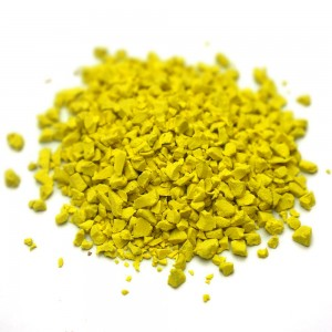 Yellow Recycled Rubber Crumb Running Track