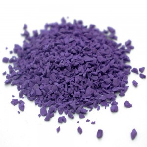 Eco-friendly 2mm Purple Color Granules
