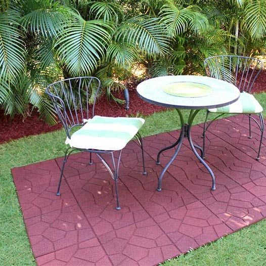Rubber Floor Tiles for Garden in USA
