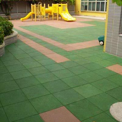 Colorful Rubber Flooring Tiles for Playground